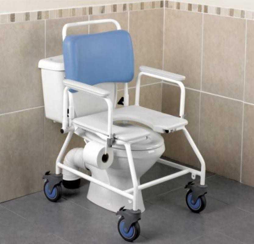 Chaise de toilette a roulettes atlantis medic 39 home le - Specialiste de la chaise ...